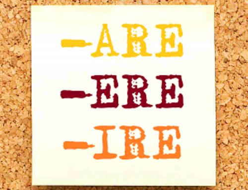 Esercizi sulla coniugazione del verbo