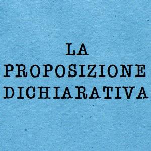 proposizione dichiarativa