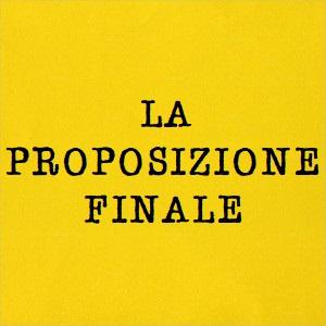 proposizione finale