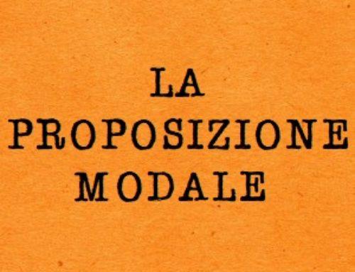 Proposizione modale
