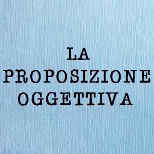 proposizione oggettiva
