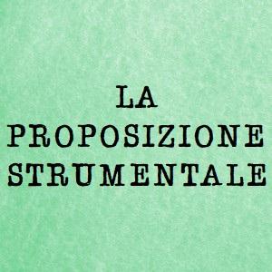 proposizione strumentale