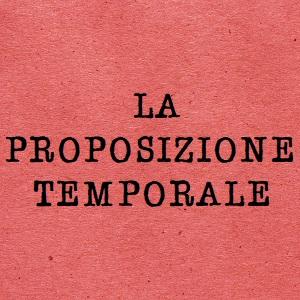 Proposizione temporale