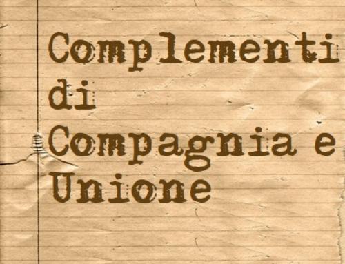 Complemento di compagnia e unione