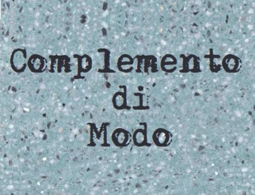 Il complemento di modo