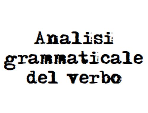 Analisi grammaticale dei verbi