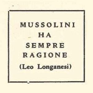 """Slogan di propaganda fascista da """"L'impero d'Italia"""""""